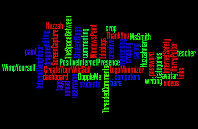 Our Wordle of Thanks to Ms Smith